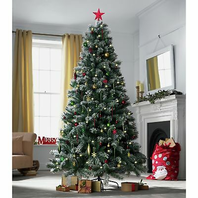 Pre-lit Snow Tipped Artificial Indoor Christmas Tree - 7ft -From Argos on ebay