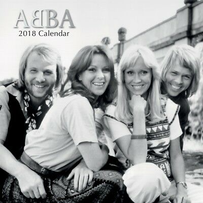 Abba – NEW 2018 Premium Square Wall Calendar in 16 Month New Year Christmas Gift