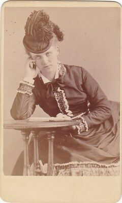 CHRISTINE NILSSON opera soprano unusual Sarony cdv photo 2nd Swedish Nightingle