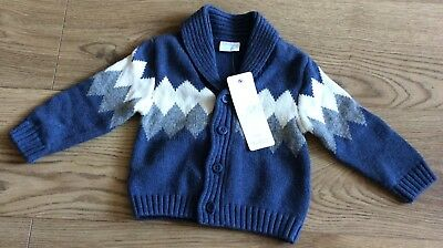baby boy jumper blue bnwt 3-6 months Florence and Fred