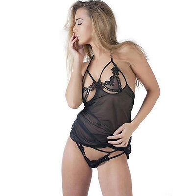 Babydoll set con G-string De Namour Tg S/M Lingerie Biancheria intima sexy