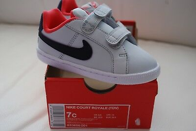 best authentic a9040 b8d9e Girls Nike Court Royale (TDV) Toddler Sneakers Shoes SIZE 7C 833656 001