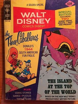 Walt Disney Comcis Digest #51 The Three Caballeros and Island at the top World