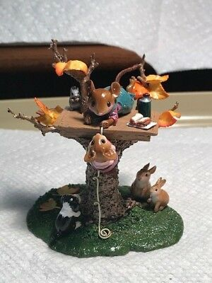 Wee Forest Folk FTF Fall Treehouse, CHIPPED LEAF!!!!