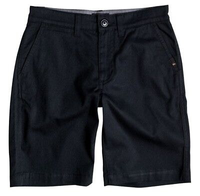 New Boys 26 12 Quiksilver Castlerock Black Everyday Union Stretch Chino Shorts