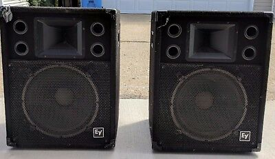 Pair Vintage Ev S 152 2 Way Stage System Pa Uned Speakers Electro