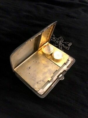 Sterling Silver (925) Cigarette Money Clip Card Holder Wallet & Chain
