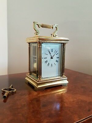A grand striking / repeating French carriage clock real quality piece - Serviced