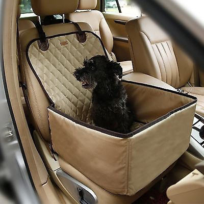 Pettom Pet Bucket Seat Cover Booster 2 in 1 Deluxe Dog& Cat Front for Cars...