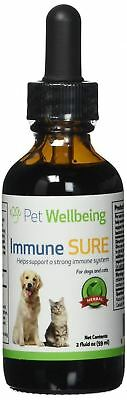 Pet Wellbeing - Immune SURE for Dogs and Cats System Support 2oz (59ml)