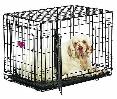 Midwest Home For Pets Life Stages Ace Double Door Dog Crate, 30-Inch