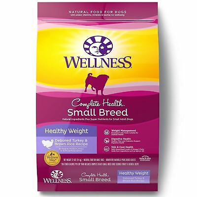 Wellness Complete Health Natural Dry Small Breed Healthy Weight Dog Food,...