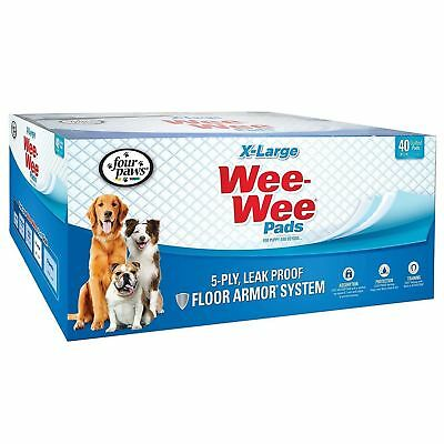 Four Paws 100202096 Wee-Wee Pads, X-Large Pad, 40-Pack