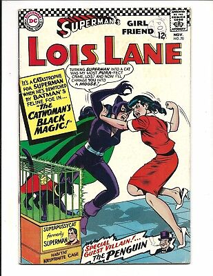 LOIS LANE # 70, (CATWOMAN & PENGUIN apps. 1st S.A. CATWOMAN, NOV 1966) VG/FN