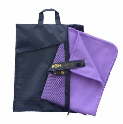 Sunland Microfiber Ultra Compact Fast Drying Travel Sports Towels(Purple,1...