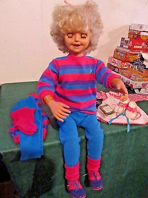 1987 Playmates Jill Talking Interactive Doll Vintage Great Condition w Extras
