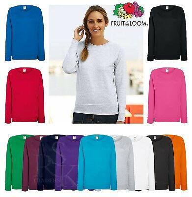 Ladies Sweatshirt Fruit Of The Loom Lady Fit Crew Neck Women Pullover Sweat Top