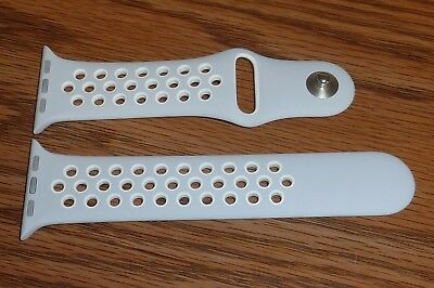 ORIGINAL Genuine Apple Watch Series 2 Nike+ BAND 38mm - S/M - Platinum / white