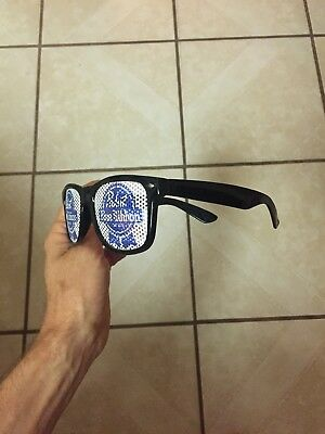 Cool Rare Pabst Blue Ribbon Beer PBR lenses Sunglasses Summer shade shades