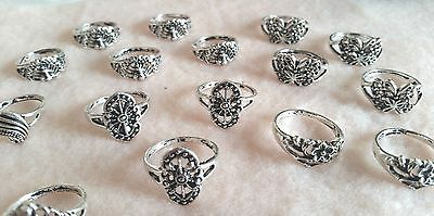 Tibetan Silver Fashion Rings Various Sizes and Designs With Free Gift Bag
