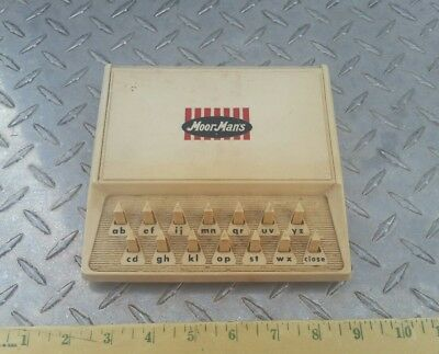 Moorman's Feed Collectible address machine very unique item nos htf nice!