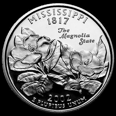 2002-S 25C State Quarter Mississippi sll  GDC Proof 90% Silver Free Shipping