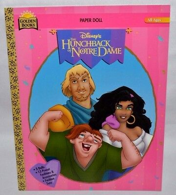 New-1996 Golden Book-Disney-Hunchback Of Notre Dame: Esmeralda,phoebus,quasimodo