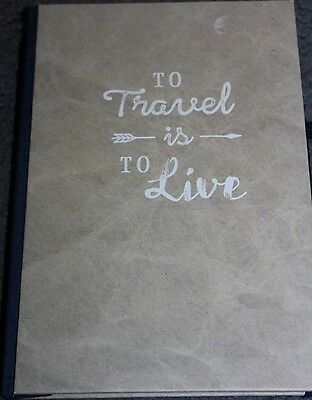 Hardcover TRAVEL JOURNAL/DIARY - Fill in book