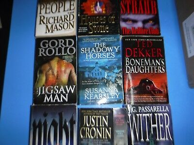 Lot Of 9 Horror Novels By Various Authors