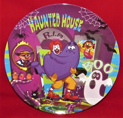 Ronald McDonalds Collectors Plate Grimace Birdie Haunted House Plastic Suncoast
