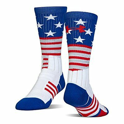 Under Armour Unrivaled Stars & Stripes Crew Single Pr Athletic Socks, Whi...