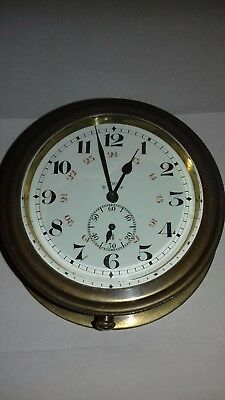 Vintage Car Clock.  Brass very early.