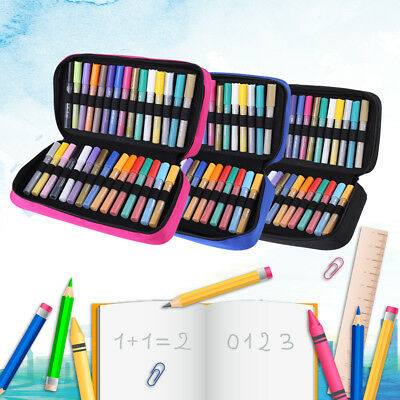 60 Slots Marker Pen Storage Case Carrying Bag Holder Organized For Art Supply SG