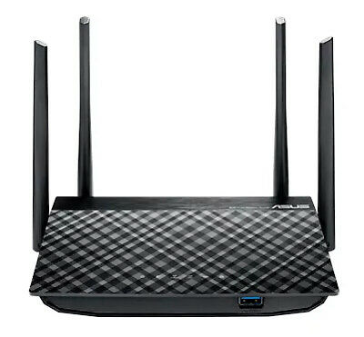 Asus Gigabit Wireless Router Ac1200 Mu-Mimo 4 X Lan Ports 2 X Usb 4 X High Perfo