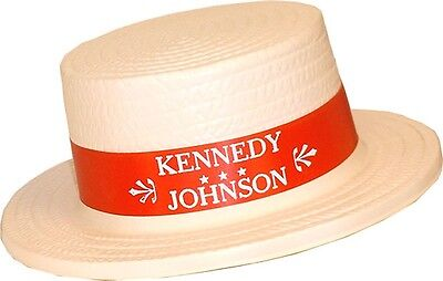 1960 Kennedy Johnson Campaign Convention Delegate Skimmer Hat (3549)