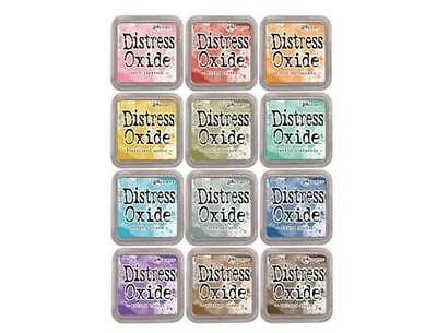 TIM HOLTZ Lot of Distress Oxide Ink Pads in 12 colors By Ranger Set #1