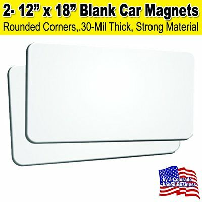 "2 Pack 12""x18"" Blank Car Magnets"