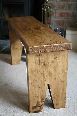 Rustic Pine Mini Bench, Farmhouse Style, Shabby Chic, Extra Seating - HANDMADE