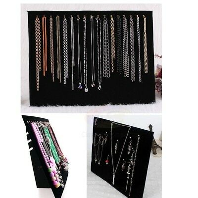 Black Velvet Necklace Display Holder Chain Jewelry Stand Easel Organizer Rack AU