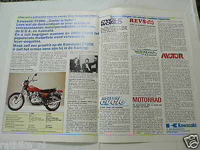 K212 Kawasaki  Brochure Z1000 And Z900 1977 Dutch 2 Pages Motorcycle 7716