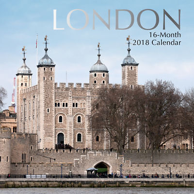 London – NEW 2018 Premium Square Wall Calendar 16 Months New Year Christmas Gift