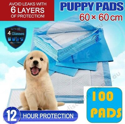 100x Puppy Pads Dog Training Toilet  Wee Indoor Pet Cat Dog Pee Train Absorbent