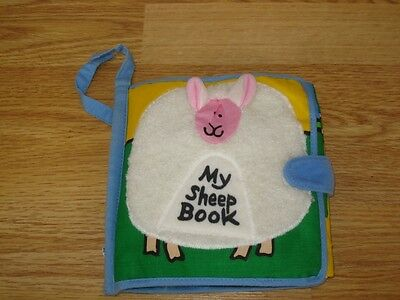 JELLY KITTEN MY SHEEP Wv SOUND SENSORY CRINKLY LIFT FLAP CLOTH RAG BOOK JELLYCAT