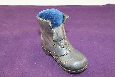 Rare Vintage Victorian Pin Cushion Men's Boot Cer 1880's to 1900's