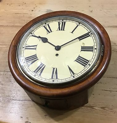 """Antique 12"""" Chain Fusee Station/School Wall Clock"""