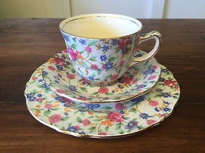 Vintage Royal Winton Old Cottage Trio. Cup Saucer and Plate.