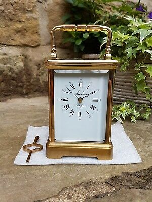 A l'epee grand Corniche striking carriage clock outstanding quality - serviced
