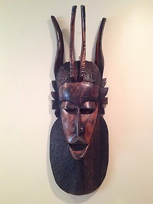 Carved wooden African tribal mask