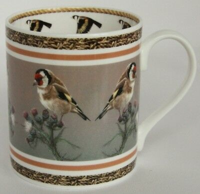Fine Bone China Mug with Gift Box-Goldfinch by Wildlife Artist Robert E Fuller