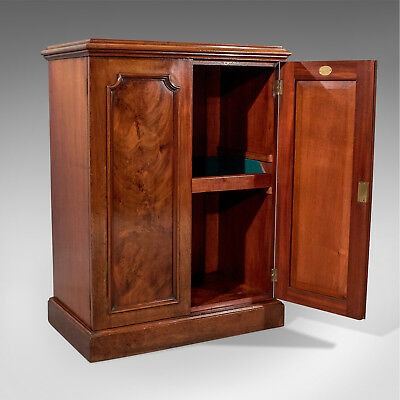 Antique Quality Side Cabinet Cupboard Flame Mahogany English Victorian c1880